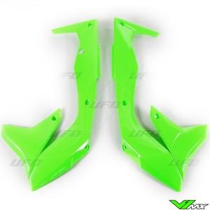 UFO Radiator Shrouds Fluo Green - Kawasaki KXF450