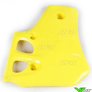 UFO Radiator Shrouds Yellow - Suzuki RM80