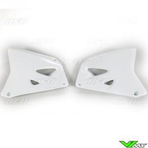 UFO Radiator Shrouds White - Suzuki RM125 RM250