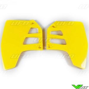 UFO Radiator Shrouds Yellow - Suzuki RM125 RM250