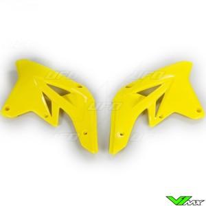 UFO Radiator Shrouds Yellow - Suzuki RMZ250