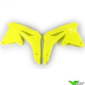 UFO Radiator Shrouds Fluo Yellow - Suzuki RMZ450