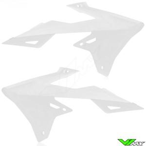 UFO Radiator Shrouds White - Suzuki RMZ250 RMZ450