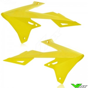 UFO Radiator Shrouds Yellow - Suzuki RMZ250 RMZ450