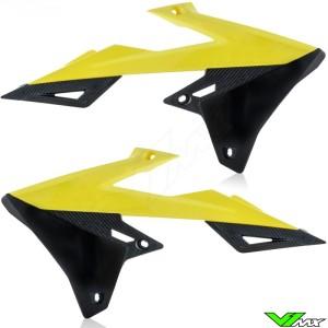 UFO Radiator Shrouds Black Yellow - Suzuki RMZ250 RMZ450