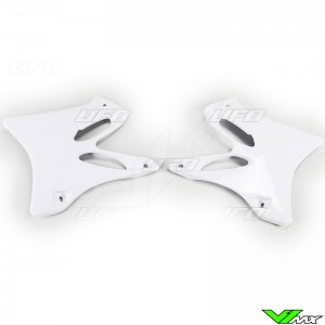 UFO Radiator Shrouds White - Yamaha YZ125 YZ250