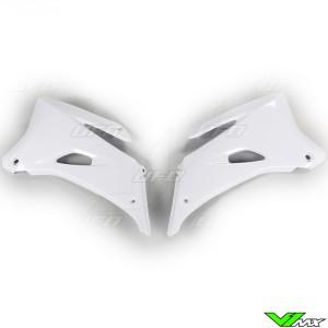 UFO Radiator Shrouds White - Yamaha YZF250 YZF450