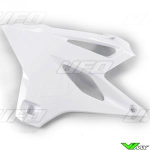 UFO Radiator Shrouds White - Yamaha YZ85