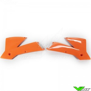UFO Radiator Shrouds Orange - KTM 125SX 250SX 380SX 400SX 520SX 125EXC 250EXC 380EXC 400EXC 520EXC