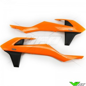 UFO Radiator Shrouds Orange Black - KTM