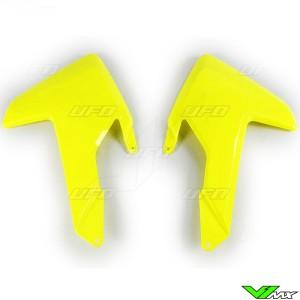 UFO Radiator Shrouds Fluo Yellow - Husqvarna