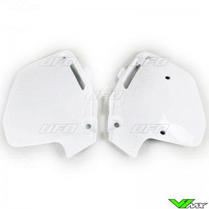 UFO Side Number Plate White - Honda CR125 CR250 CR500