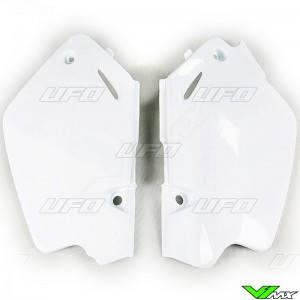 UFO Side Number Plate White - Honda CR80