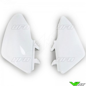 UFO Side Number Plate White - Honda CRF50F