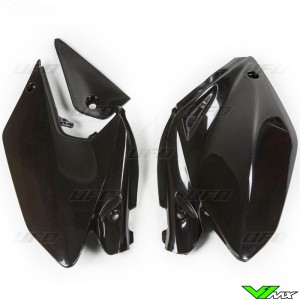 UFO Side Number Plate Black - Honda CRF250X