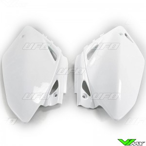 UFO Side Number Plate White - Honda CRF450R