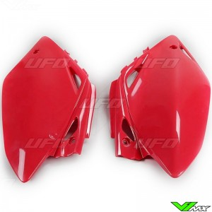 UFO Side Number Plate Red - Honda CRF450R