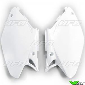 UFO Side Number Plate White - Honda CR125 CR250