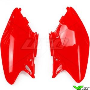 UFO Side Number Plate Red - Honda CR125 CR250