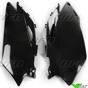 UFO Side Number Plate Black - Honda CRF250R CRF450R