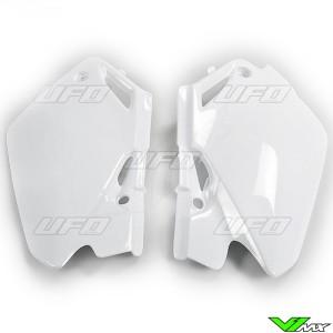 UFO Side Number Plate White - Honda CR85