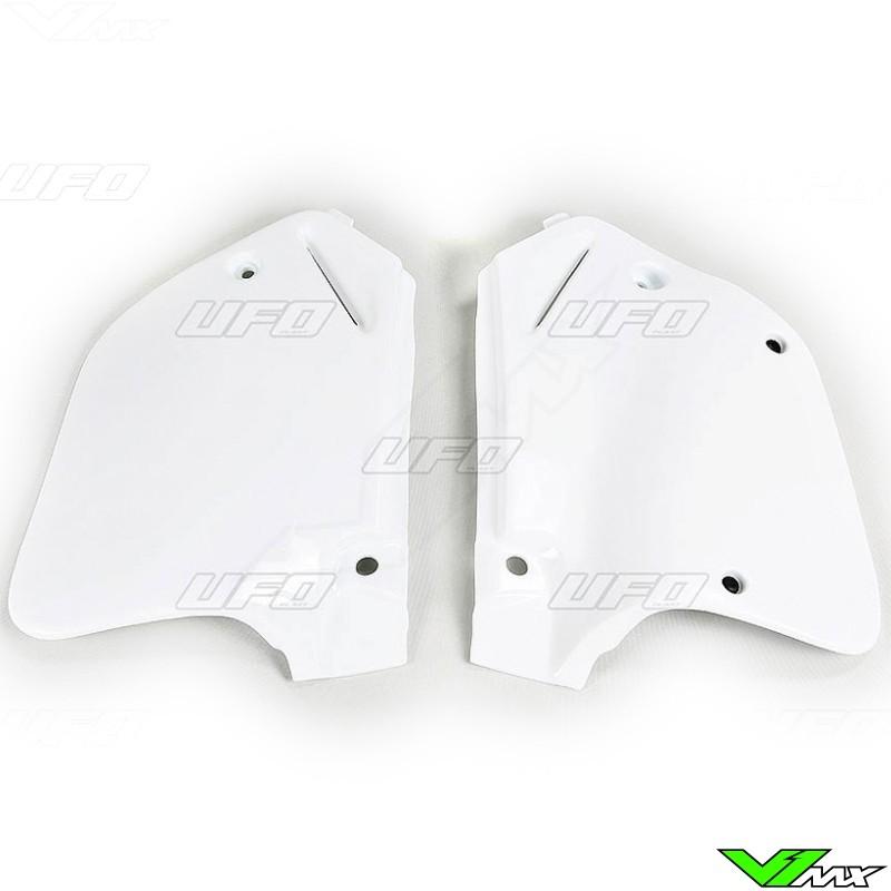93369dcc UFO Side Number Plate White - Honda CR125 CR250 - V1mx