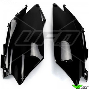 UFO Side Number Plate Black - Honda CRF250R CRF450R