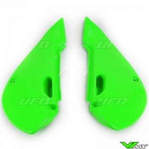 UFO Side Number Plate Green - Kawasaki KX65 KLX110