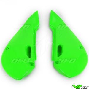 UFO Side Number Plate Green - Kawasaki KX65 KLX110