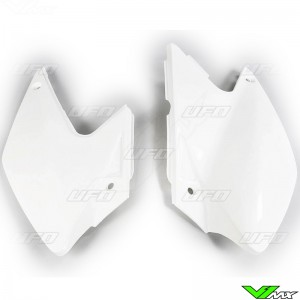 UFO Side Number Plate White - Kawasaki KLX450