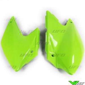 UFO Side Number Plate Green - Kawasaki KLX450