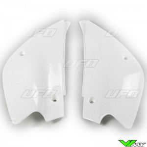 UFO Side Number Plate White - Kawasaki KX85