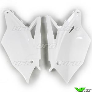 UFO Side Number Plate White - Kawasaki KXF250 KXF450
