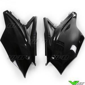 UFO Zijnummerplaten Zwart - Kawasaki KXF250 KXF450