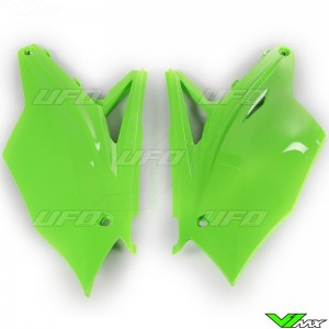 UFO Side Number Plate Green - Kawasaki KXF250 KXF450