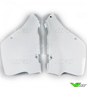 UFO Side Number Plate White - Suzuki RM125