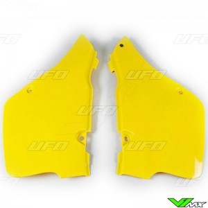 UFO Side Number Plate Yellow - Suzuki RM125