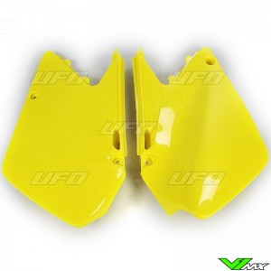 UFO Side Number Plate Yellow - Suzuki RM125 RM250