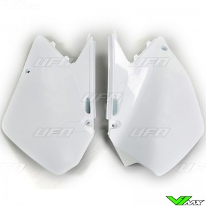 UFO Side Number Plate White - Suzuki RM125 RM250