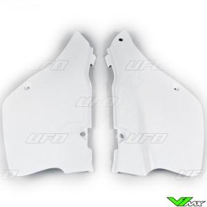 UFO Side Number Plate White - Suzuki RM250