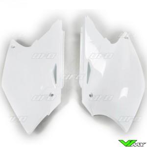 UFO Side Number Plate White - Suzuki RMZ250