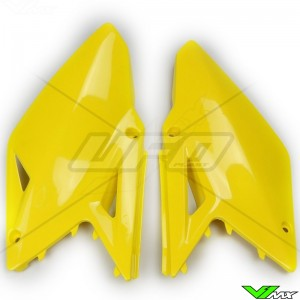 UFO Side Number Plate Yellow - Suzuki RMZ450