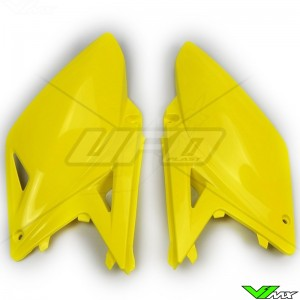 UFO Side Number Plate Yellow - Suzuki RMZ250