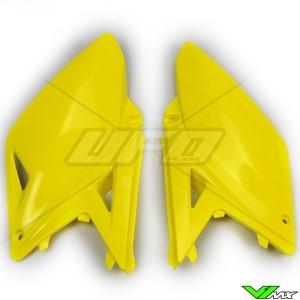 UFO Side Number Plate Yellow - Suzuki RMZ250