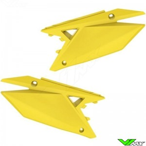 UFO Side Number Plate Yellow - Suzuki RMZ250 RMZ450