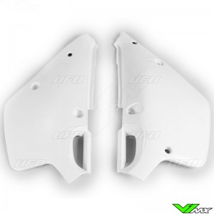 UFO Side Number Plate White - Yamaha YZ125 YZ250