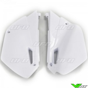 UFO Side Number Plate White - Yamaha YZ85