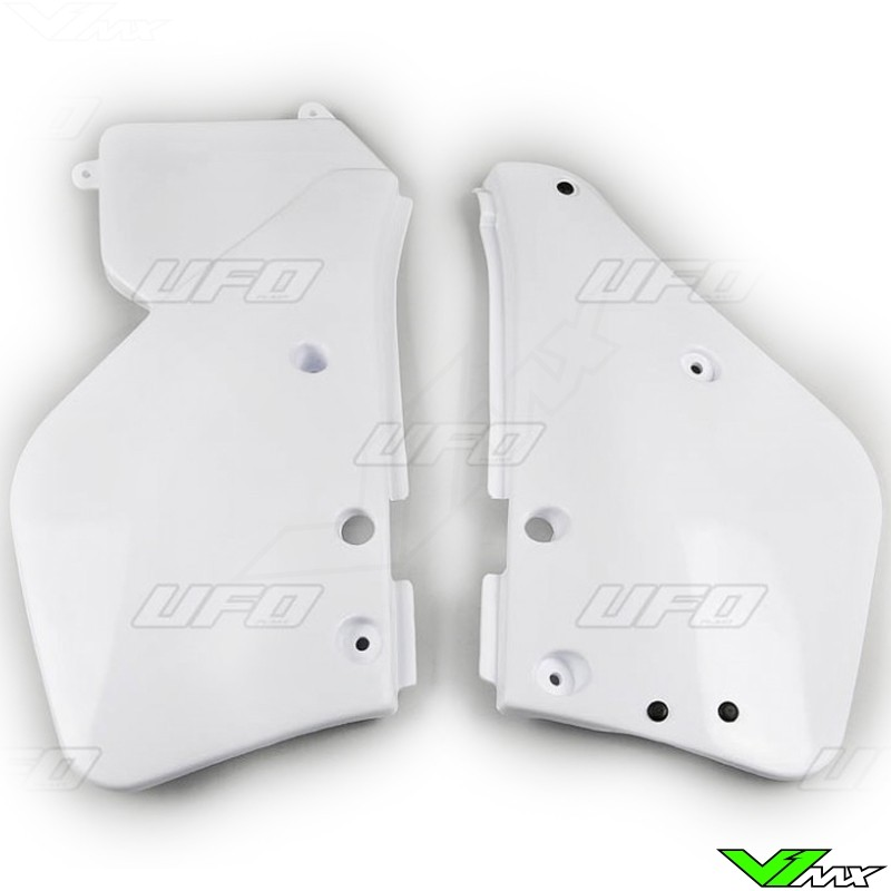UFO Side Number Plate White 87-88 - Yamaha YZ125 YZ250