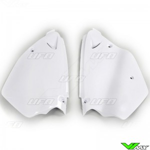 UFO Side Number Plate White - Yamaha YZ125 YZ250