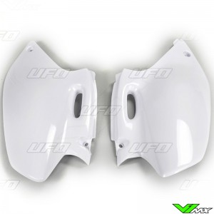 UFO Side Number Plate White - Yamaha YZF250 YZF400 YZF426 WR250F WR400F WR426F